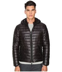 Duvetica Troilo Quilted Down Hooded Jacket Allblack Men's Coat