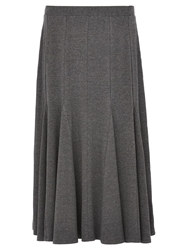 Viyella Fit And Flare Jersey Skirt Grey Marl