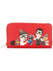 Dolce And Gabbana Dg Designer's Patch Wallet Red