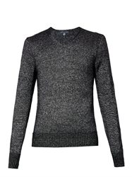 John Varvatos V Neck Metallic Sweater
