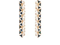 Nak Armstrong Women's Mosaic Long Drop Earrings Pink