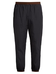 Kolor Relaxed Fit Cropped Track Pants Navy