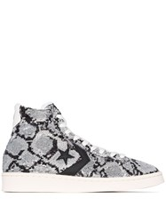 Converse Grey Sequinned Leather High Top Sneakers 60