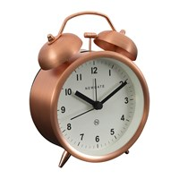Newgate Charlie Bell Alarm Clock Radial Copper
