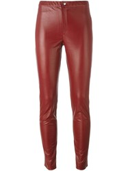 Etoile Isabel Marant A Toile 'Jeffrey' Faux Leather Trousers Red