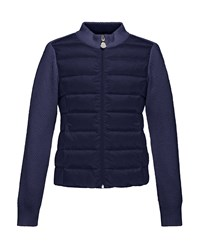 Moncler Maglia Knit Zip Cardigan W Down Front Navy Size 8 14 Size 12