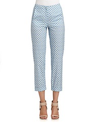 Cacharel Cropped Printed Pants Blue