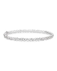 Confetti 18K White Gold And Diamond Bangle Bracelet Paul Morelli