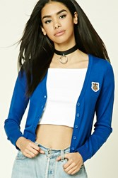 Forever 21 Tiger Patch Cardigan Royal Tan