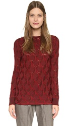 Thakoon Long Sleeve Pullover Burgundy