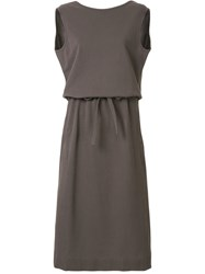 Christophe Lemaire Bow Detail Dress Brown