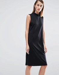 Selected Coda High Neck Shift Dress Black