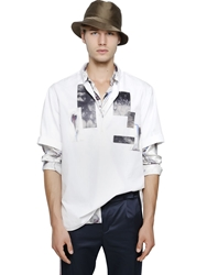 Iceberg Short Sleeve Cotton Poplin Shirt White