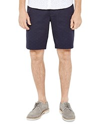 Ted Baker Funtess Spotted Jacquard Chino Shorts Blue