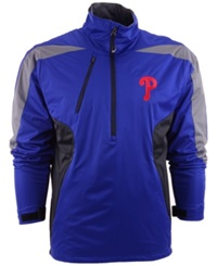Antigua Men's Philadelphia Phillies Discover Half Zip Jacket Royalblue Gray