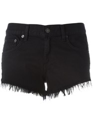Rag And Bone Jean Frayed Denim Shorts Black