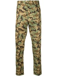 N 21 No21 Camouflage Print Trousers Green