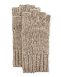 Goodman's Fingerless Cashmere Gloves Brown