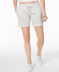 Calvin Klein Performance French Terry Cuffed Shorts Silver Dust
