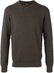 Tod's Woven Detail Jumper Brown