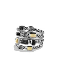 Confetti Ring With Black Onyx Black Diamonds And Gold David Yurman