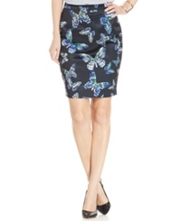Cece By Cynthia Steffe Butterfly Print Pencil Skirt