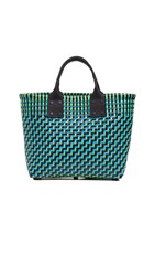 Truss Small Tote With Leather Handle Turquoise Green
