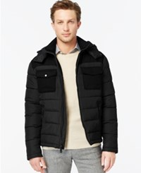 Kenneth Cole Hooded Puffer Jacket Black