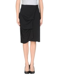 Ice Iceberg Knee Length Skirts Black