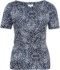 Cc Navy Ditsy Leopard Print Jersey Top Blue