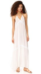 9Seed Laguna Lace Halter Dress White