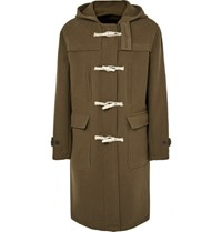 Our Legacy Extended Wool Blend Hooded Duffle Coat Ary Green Army Green