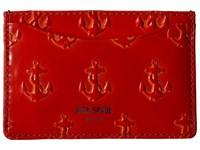 Jack Spade Embossed Anchor Credit Card Holder Jack Orange Credit Card Wallet