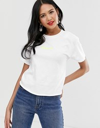 Miss Selfridge T Shirt With Slogan In White