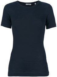 Vince Classic Fitted T Shirt Cotton Xs Blue