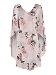Biba Printed Batwing Luxe Jersey Dress Multi Coloured Multi Coloured