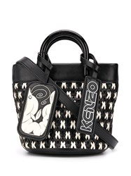 Kenzo Mini Shrimps Tote Bag Black