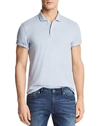 Bloomingdale's The Men's Store At Slub Jersey Enzyme Wash Classic Fit Polo 100 Exclusive Zen Blue