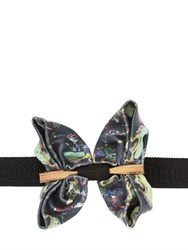 Christian Correnti Embellished And Printed Silk Bow Tie