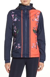 Ted Baker Women's London Tropical Oasis Hooded Jacket Navy