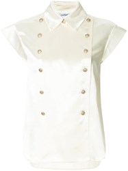 Chanel Vintage Cc Short Sleeve Top White