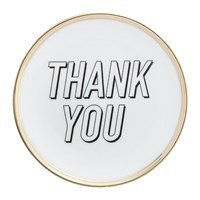 Bitossi Funky Table Plate Thank You 15Cm
