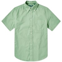 Gitman Brothers Vintage Short Sleeve Spring Oxford Shirt Green