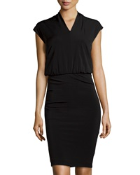 Philosophy Di Alberta Ferretti Stretch Knit Illusion Dress Black