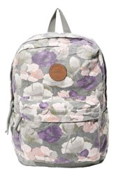 O'neill Oceanside Floral Print Backpack Grey Laurel Oak