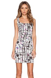 Milly Splatter Print Cut Out Dress White