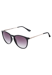Kiomi Sunglasses Black Gold Metal Smoke