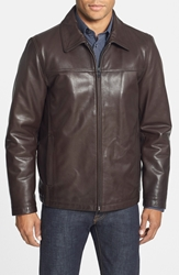Vince Camuto Insulated Leather Moto Jacket Espresso