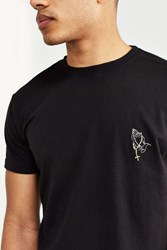 Urban Outfitters Embroidered Praying Hands Tee Black
