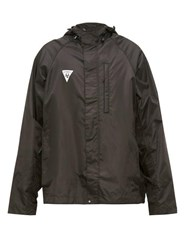 Vetements Logo Patch Hooded Technical Jacket Black